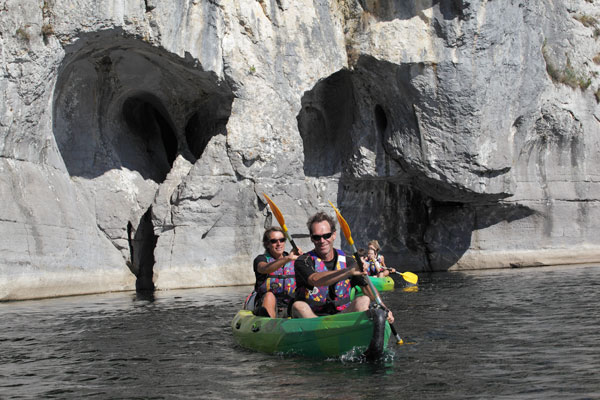 Gorges du Chassezac en canoé