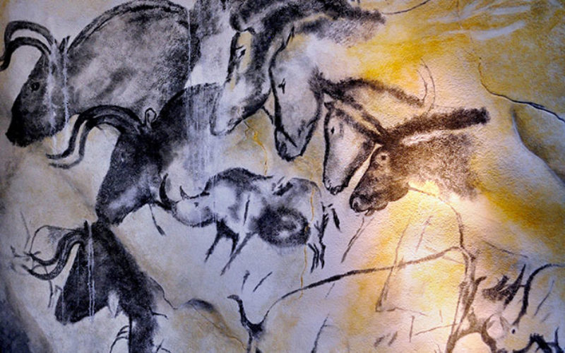 Pont d'Arc cavern, a replica of Chauvet cave