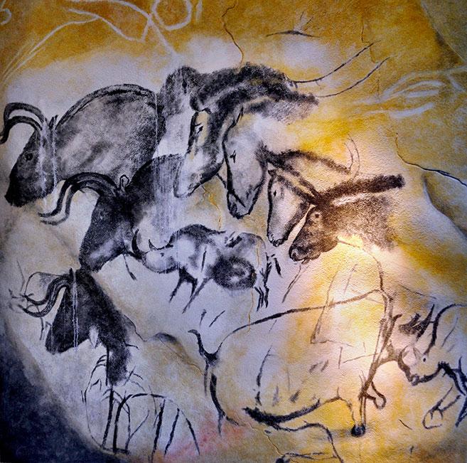 Caverne du pont d'arc, réplique de la grotte Chauvet